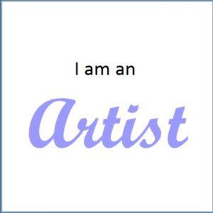 I am an ARTIST button