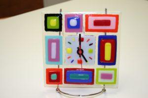 slumped glass clock